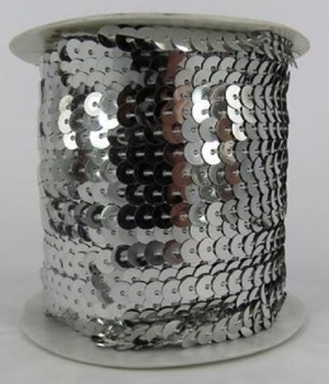 Sequin String Silver approx. 45m Roll