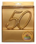 Gold 50 Cake Topper
