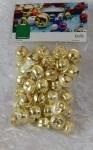 15mm Jingle Bells Gold Pack 50