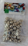 15mm Jingle Bells Silver Pack 50