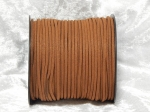 Faux Suede Cord Flat 3mm Brown Full Roll