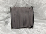 Faux Suede Cord Flat 3mm Grey Full Roll