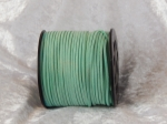 Faux Suede Cord Flat 3mm Mint Green Full Roll