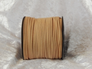 Faux Suede Cord Flat 3mm Wheat Full Roll