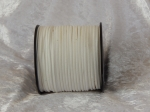 Faux Suede Cord Flat 3mm White Full Roll