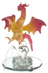 Glass Spread Wings Dragon Pink