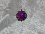 Antique Brass Purple Pendant