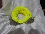 Satin Necklace Cord 2mm with Clasp Green/Yellow