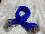 Satin Necklace Cord 2mm with Clasp Royal