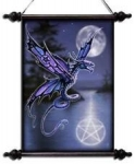 Anne Stokes Scroll 51cm x 44cm - Dragonfly