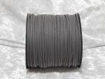 Faux Suede Cord Flat 3mm Dark Grey