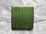 Faux Suede Cord Flat 3mm Green
