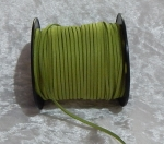 Faux Suede Cord Flat 3mm Leaf Green Full Roll