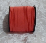 Faux Suede Cord Flat 3mm Red Full Roll