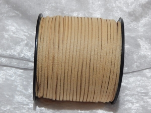 Faux Suede Cord Flat 3mm Wheat