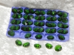 Octagons 14mm 1 Hole - Emerald