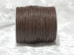 1.5mm Choc Waxed Cotton Roll