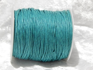 1.5mm Teal Waxed Cotton