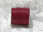 1mm Wine Red Waxed Cotton