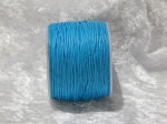 1mm Turquoise Waxed Cotton