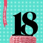 Acrylic Cake Topper - Number 18