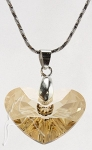 Swarovski Elements Crazy For You Necklace Golden Shadow