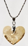Swarovski Elements Truly In Love Necklace Golden Shadow