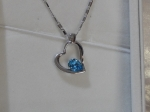 Crystal Ice Necklace with Swarovski Elements Heart Blue 10022 **CLEARANCE COST PRICE ONLY**