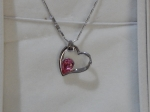 Crystal Ice Necklace with Swarovski Elements Heart Rose 10022 **CLEARANCE COST PRICE ONLY**