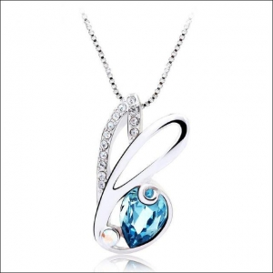 Crystal Ice Necklace with Swarovski Elements Blue 10025 **CLEARANCE COST PRICE ONLY**