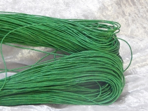 1mm Green Waxed Cotton