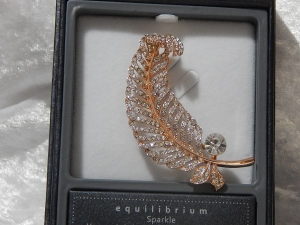 Equilibrium Glamour Brooch - Rose Gold Large Leaf