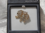 Equilibrium Glamour Brooch - Rose Gold Elephant