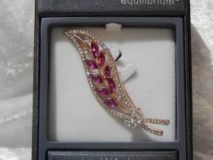 Equilibrium Glamour Brooch - Rose Gold Rose Leaf