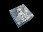 Anne Stokes Box with Mirror - Winter Guardians 10cm x 10cm
