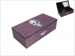 Anne Stokes Box with Mirror - Oriental Skull 20cm x 10cm
