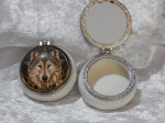 Lisa Parker Trinket Box - Wolf Brown