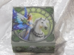 Anne Stokes Box with Mirror - Realm of Enchantment 10cm x 10cm