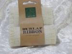 Burlap Ribbon 9.5cm x 1m White