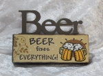 Plaque Mini Table Top Sign - Beer