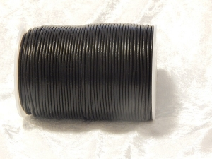 2mm Black Indian Leather Thonging 100m Roll