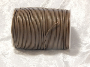 2mm Coffee Indian Leather Thonging