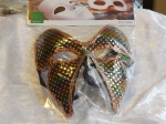 Eye Mask Butterfly Velour/Sequin Gold