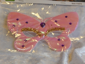 Eye Mask Iridescent Butterfly Pink