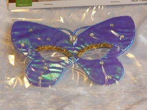 Eye Mask Iridescent Butterfly Purple