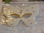 Eye Mask Iridescent Butterfly White