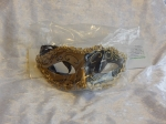 Eye Mask Two Tone with Braid Gold/Black