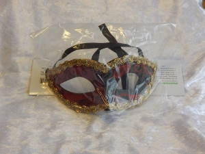 Eye Mask Two Tone with Braid Red/Black
