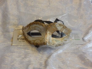 Eye Mask Two Tone with Braid White/Gold