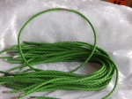 3mm Emerald Braided Leather Necklace Cord with Magnetic Clasp
